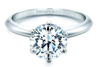 Round Cut Diamond in the Tiffany Setting