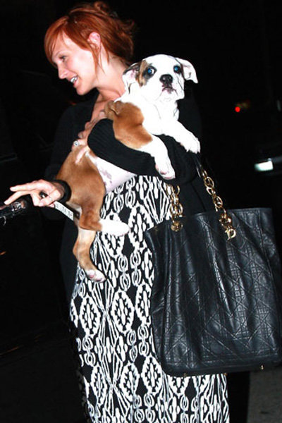 Ashlee Simpson and Rigby ...