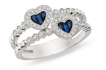 Wedding Rings Mn 19 New White gold heart engagement
