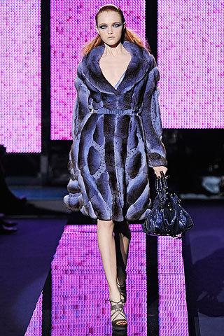 Versace Blue Fur Coat - 20 Most Fashionable Designer Fur Coats…