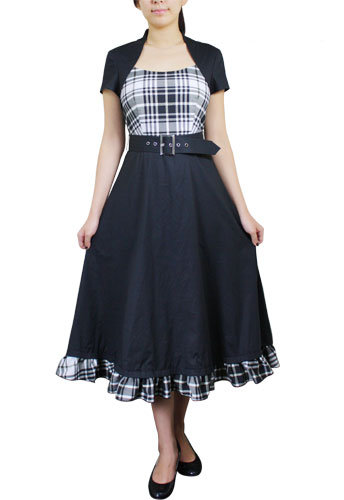 Smart and Sassy Plaid Belted Lucy Dress
