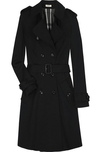 Burberry Wool Jersey Trench Coat