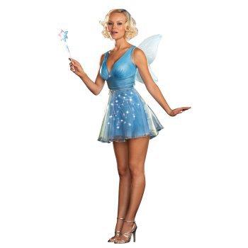 true blue fairy light up costume - Blue Halloween Dress