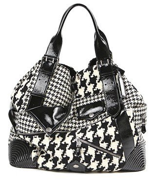 Alexander McQueen. Large Faithful Tote in Dogtooth Print