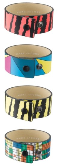 Marc Jacobs Printed Snap Bracelets