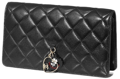 Long Quilted Wallet in Calfskin