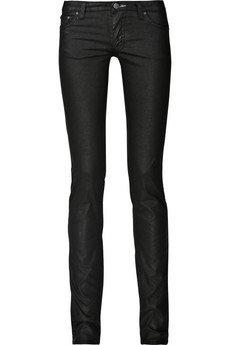 Acne Kex Waxed Leather Look Jeans