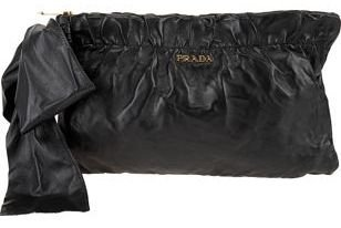 prada black clutch bag