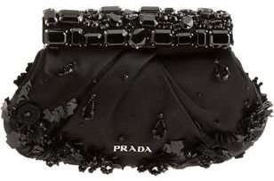 prada authentic shoes - 4. PRADA Stones Clutch - Black - 10 Most Stylish Prada Bags ... �� ??\u2026
