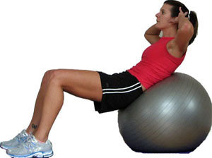 Crunches on an Exercise Ball