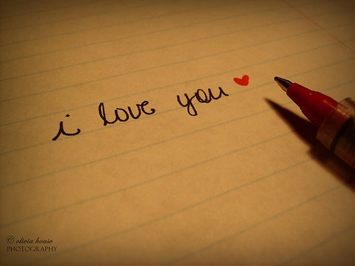 Writing a love letter?