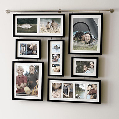 Deluxe wall gallery frame 10 great photo display ideas for Picture wall display