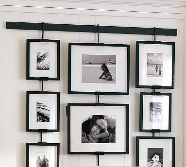 Pottery barn studio wall easel 10 great photo display for Hanging frames on walls
