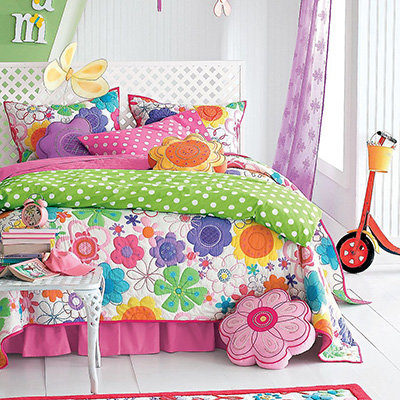 Company Kids Modern Bloom Quilt Set 10 Pretty Bedding