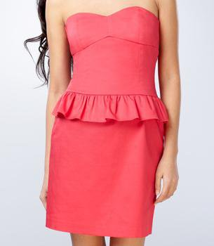 Coral Peplum Dress from Fred Flare - $48