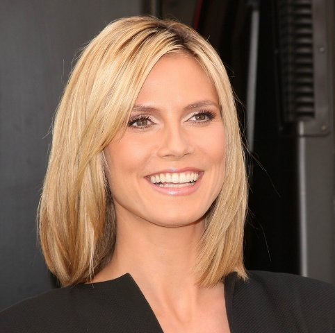 one side long bob 8 heidi klum 39 dos which one works. Black Bedroom Furniture Sets. Home Design Ideas