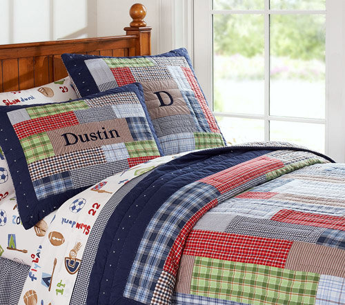 Pottery Barn Kids Dustin Quilted Bedding