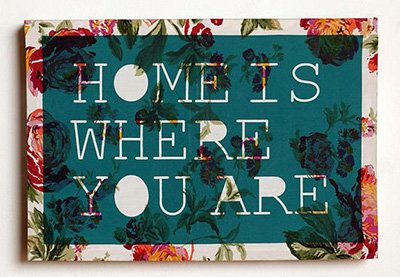 Home Is Where You Are Art