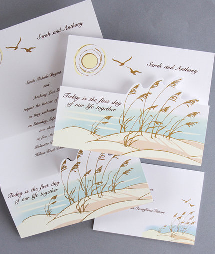 ocean view wedding invitations - Amazing Wedding Invitations