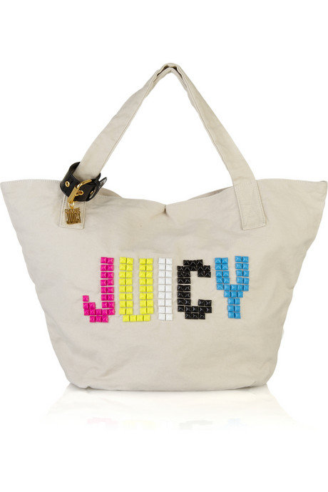 Juicy Couture Studded Canvas Tote