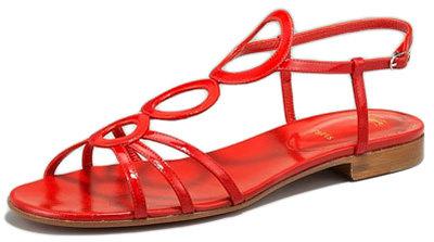 christian louboutin designer lxgd  Christian Louboutin Flat Patent Sandal