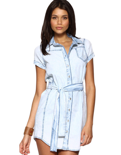Satisfying Low Priced Lipsy Denim Shirt Dress - Black