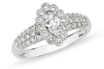 3/4 Carat Diamond 14K White Gold Bridal Engagement Ring