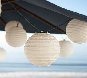 pottery barn globe paper lanterns 10 items for your yard