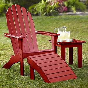 World Market Red Adirondack Chair