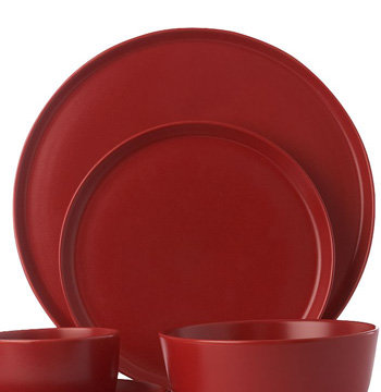 Delightful Daley Ceramic Dinner Range In Red