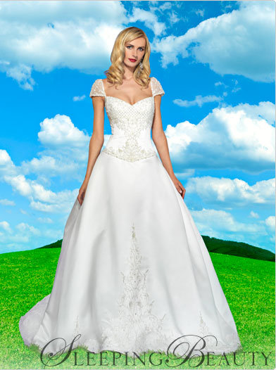 Sleeping beauty style sb2908 7 prettiest disney princess for Disney style wedding dresses