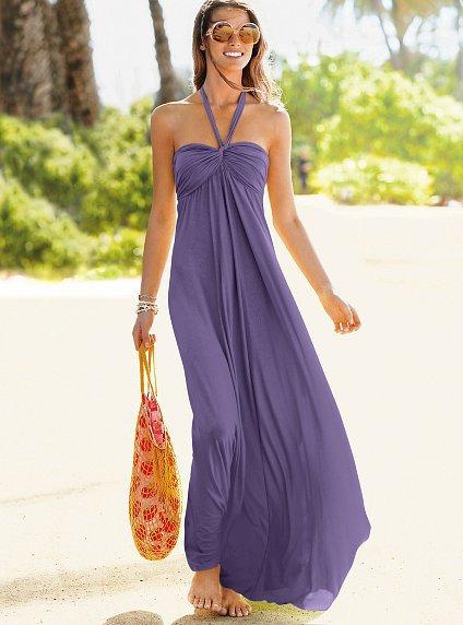 Victoria S Secret Halter Bra Top Maxi Dress 7 Sexy