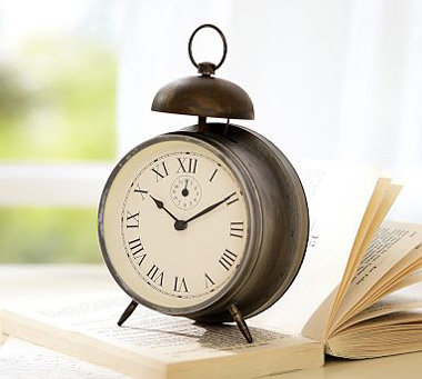 pottery barn vintage bedside clock 8 cool alarm clocks