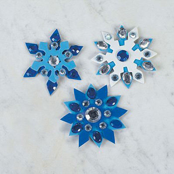 Jeweled Snowflake Magnet Craft Kit