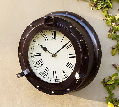 Oversized Porthole Clock