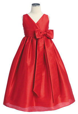 5. Red V-Neck Poly Silk Dress - 8 Top Dresses for Your Little Girl…