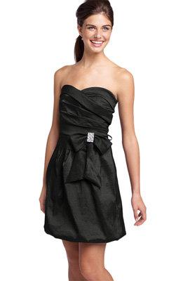 Teeze Me Rhinestone Bow Strapless Dress