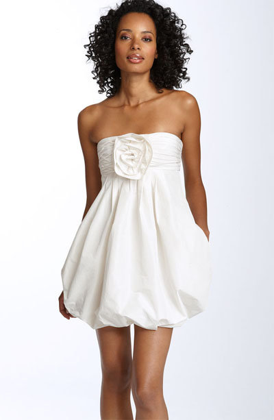 Pleated Bubble Hem Dress