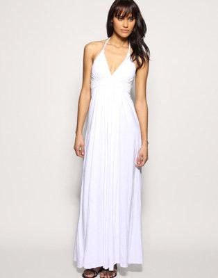 White Halter Maxi Dress - RP Dress