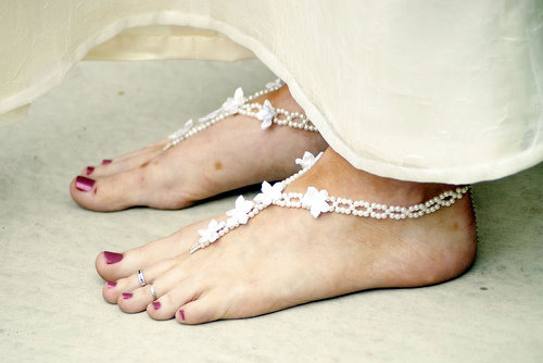 Bare Feet with Feet Jewelry