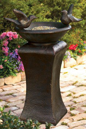 Garden Pedestal Bird Bath/Feeder