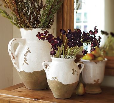 Pottery Barn Tuscan Urns & Cachepot