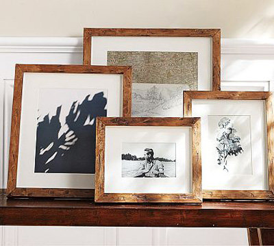 pottery barn rustic wood gallery frames