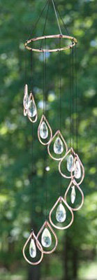 Crystal Raindrops Wind Chime