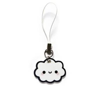 Happy Cloud Cell Phone Charm