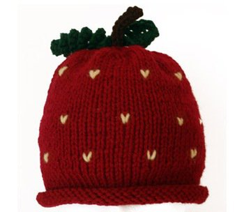 Knit Strawberry Hat