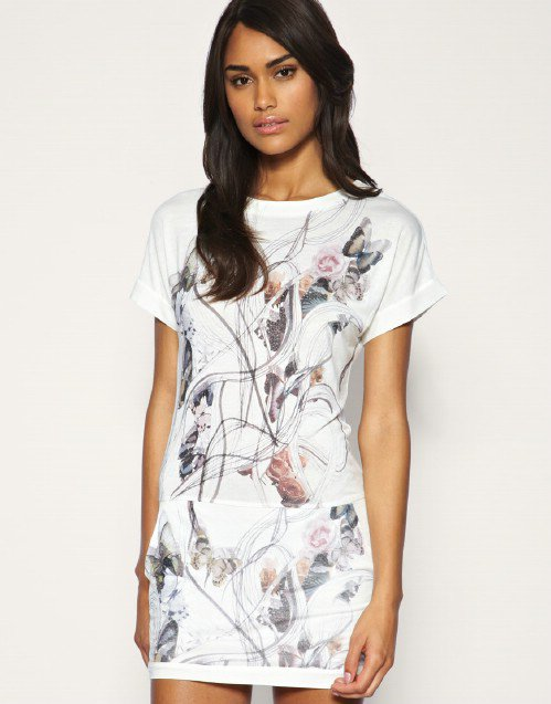 Mango butterfly t shirt dress 8 gorgeous print dresses i for T shirt dress outfit tumblr