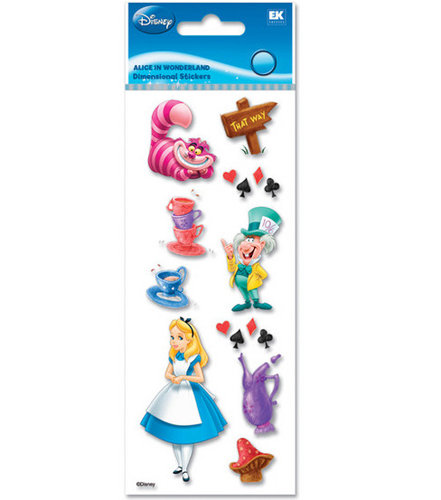 A Touch of Jolee's Disney Dimensional Stickers - Alice in Wonderland