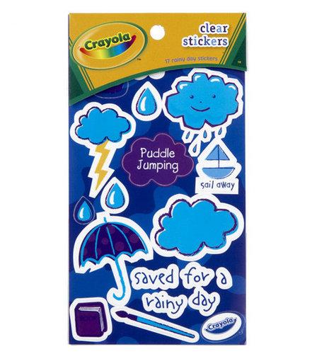 Crayola Clear Stickers - Rainy Day