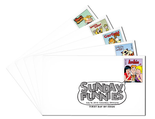 Sunday Funnies First Day Covers